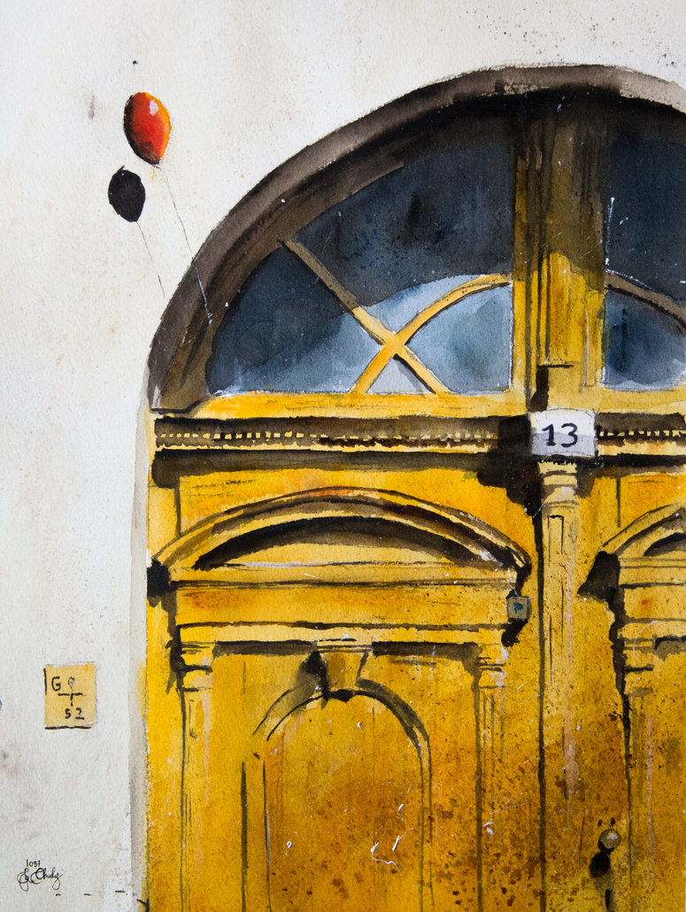 07-A-door-from-Tokaj-Grzegorz-Chudy-sanderus-Dreams-Started-with-Watercolor-Paintings-www-designstack-co
