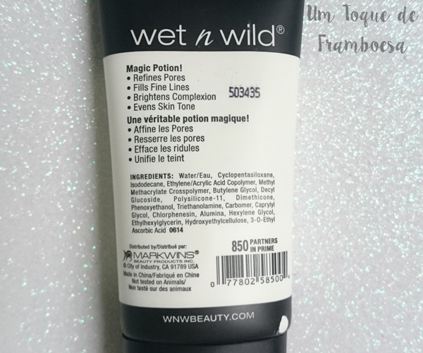 Fórmula e proposta do primer Wet'n Wild Coverall