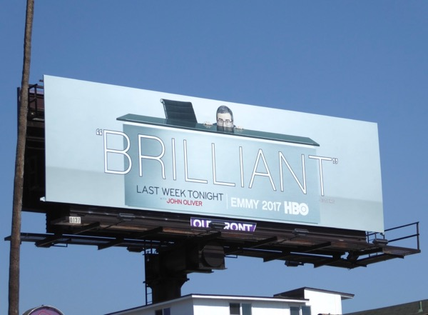 Last Week Tonight John Oliver Brilliant Emmy billboard