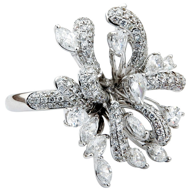 Entice all Diamond floral ring inspired by Rampion Flower