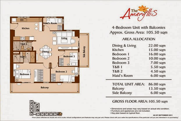 The Amaryllis 4 Bedroom Unit - 105.50 sqm