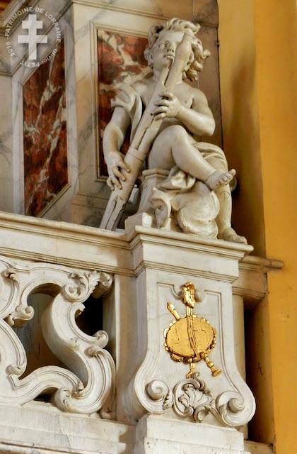 LUNEVILLE (54) - Tribune d'orgue de l'église Saint-Jacques