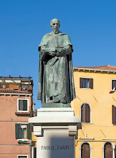 The statue of Parlo Sarpi in Campo Santa Fosca in Cannaregio in Venice