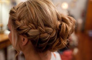 braided wedding hairstyle updo
