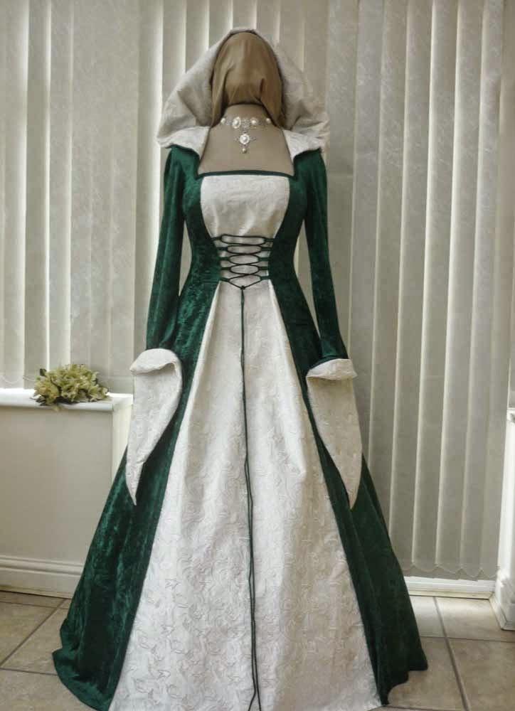 Traditional Green Celtic Wedding Dresses Design