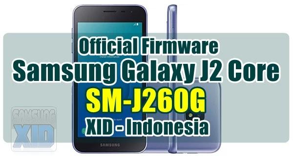 Firmware Samsung Galaxy J2 Core SM-J260G Bahasa Indonesia