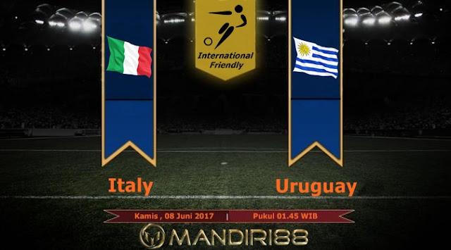 Prediksi Bola : Italy ( N ) Vs Uruguay , Kamis 08 Juni 2017 Pukul 01.45 WIB