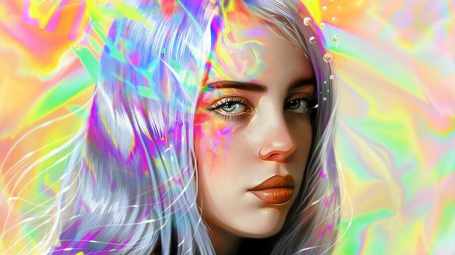 Billie Eilish, Art, 4K, #4.859