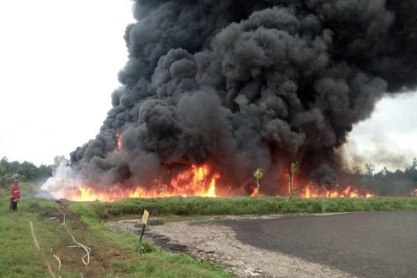 Kebakaran Kolam Limbah CPO