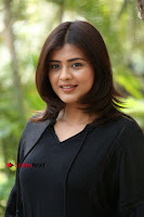 Actress Hebah Patel Stills in Black Mini Dress at Angel Movie Teaser Launch  0150.JPG