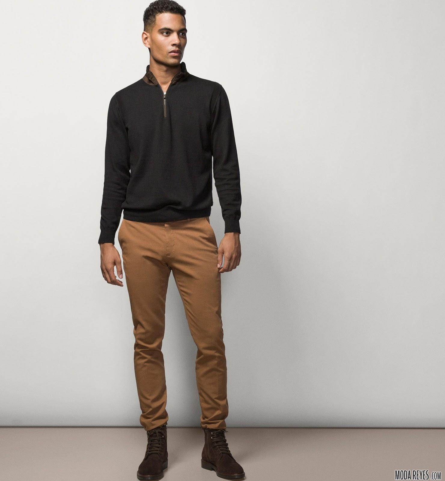 Combinaci n de colores de ropa de hombres moda masculina - Combinar color marron ...