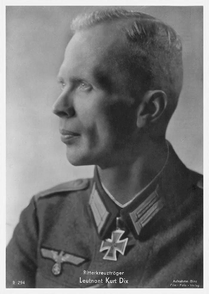 Kurt Dix Ritterkreuzträger Knight Cross Holder Postcard