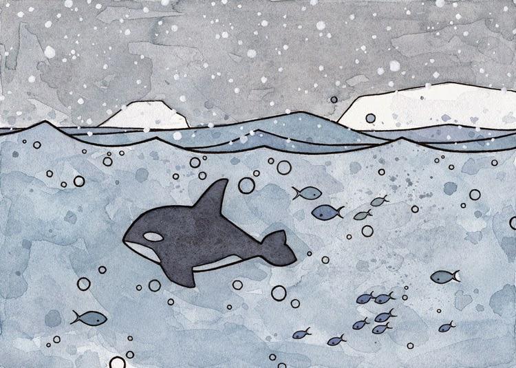 ballena en el mar