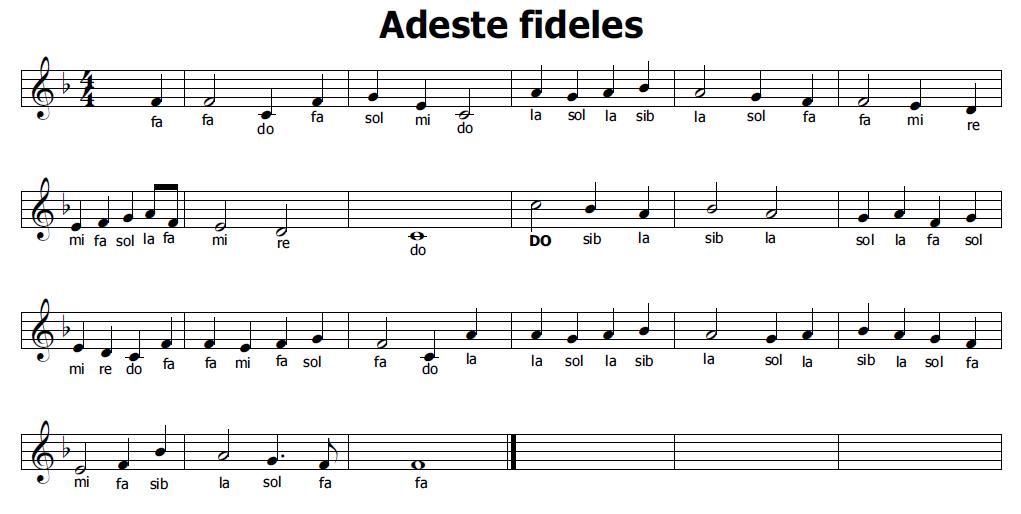 Estremamente Musica e spartiti gratis per flauto dolce: Adeste Fideles LO84