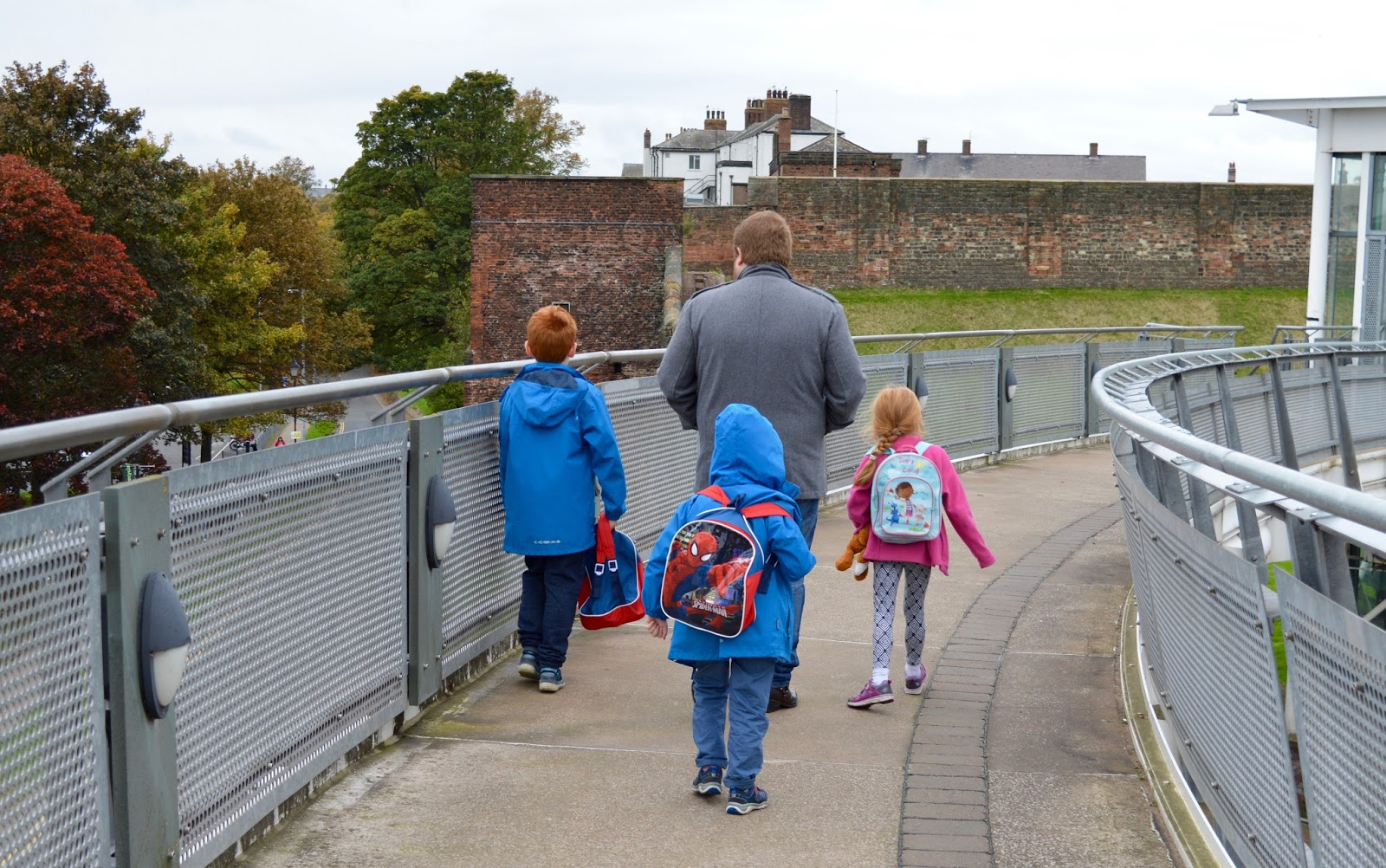 Great Days Out with Northern  | Our Day Trip to Carlisle by Train - bridge crossing from Tullie museum to Carlisle castle