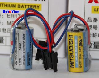 Pin PLC Mitsubishi ER17330V/3.6V, bán battery PLC Mitsubishi dòng A