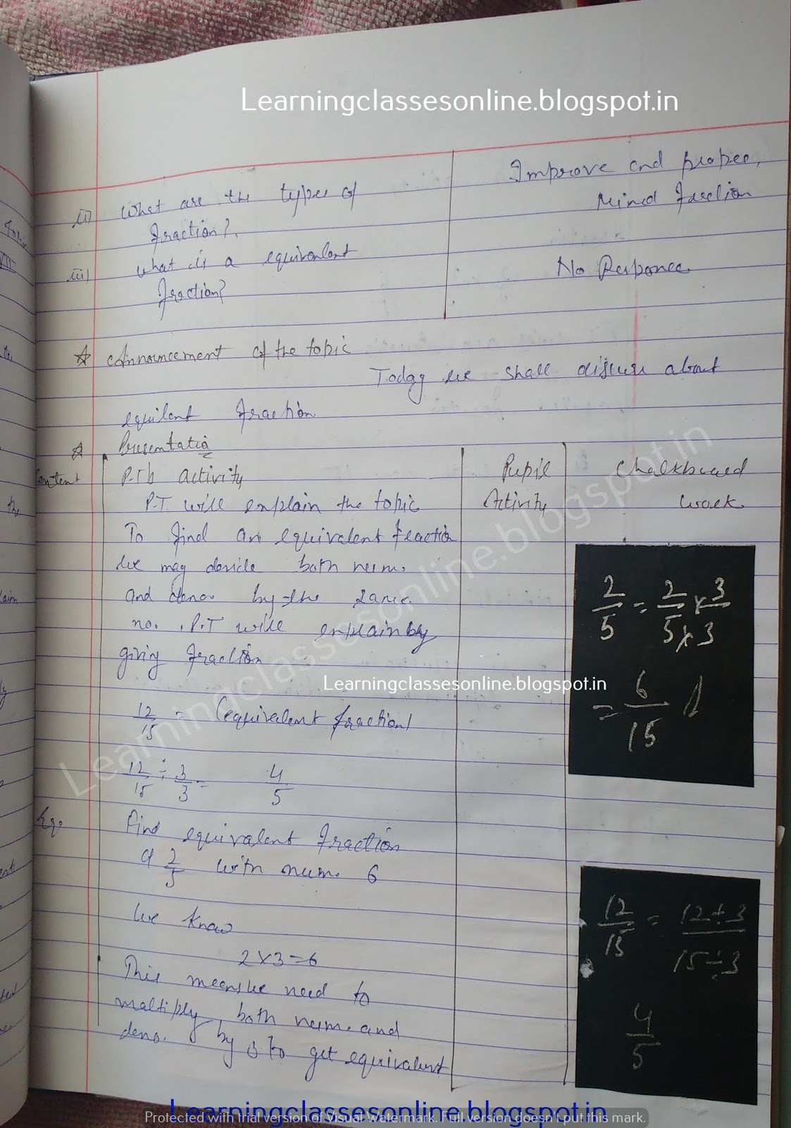 Lesson Plan Format For Maths,