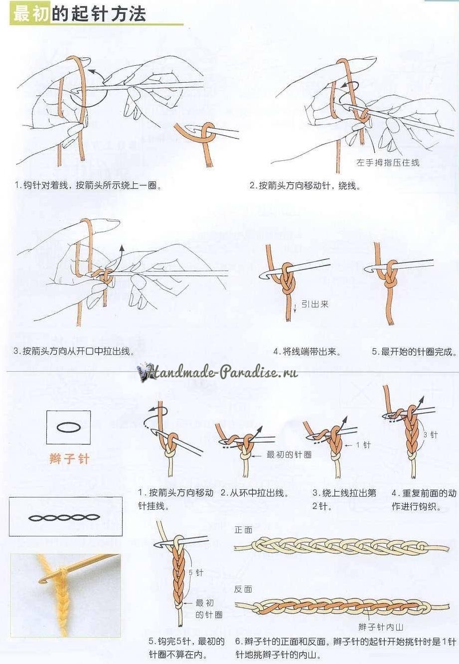 Как вязать крючком по китайским схемам (9)