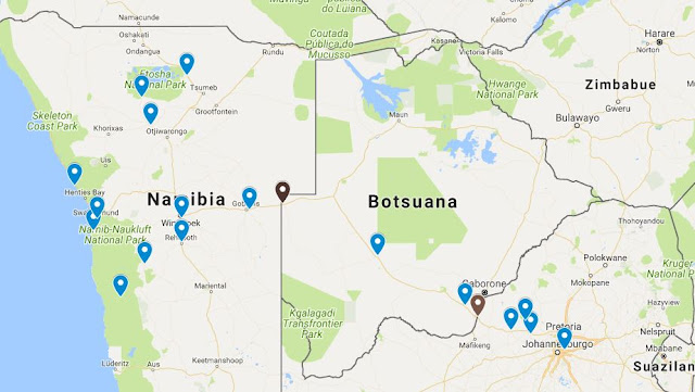 Itinerario en coche Africa
