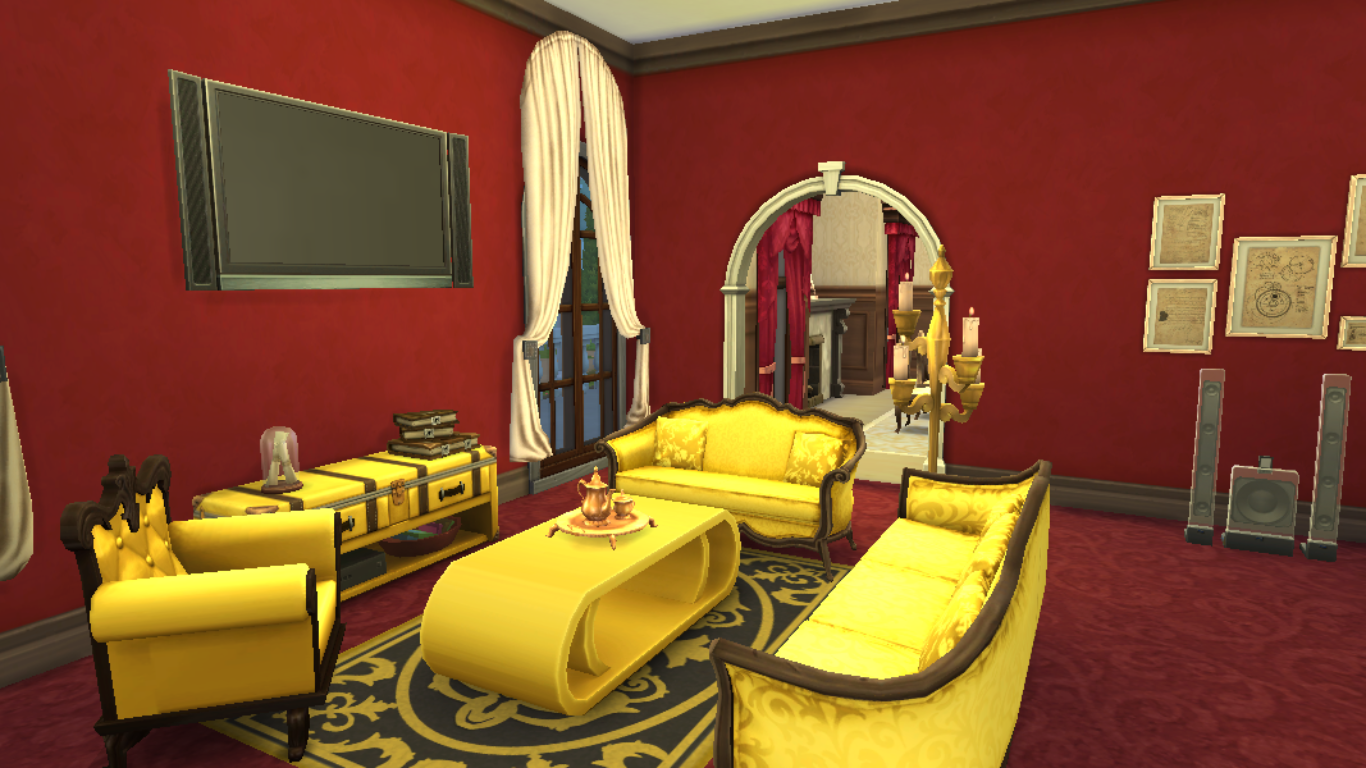 sims 4 living room