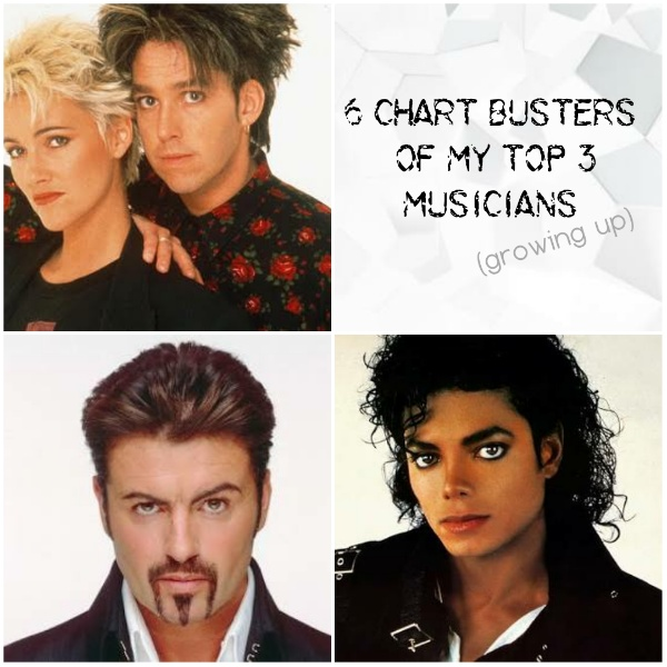 6 Chart busters of my Top 3 musicians (growing up) #FridayReflections