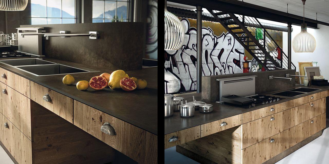 Cuisine design en bois contemporain Cuisine design bois