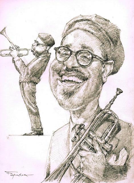 Dizzy Gillespie bebop caricature fede bengoa
