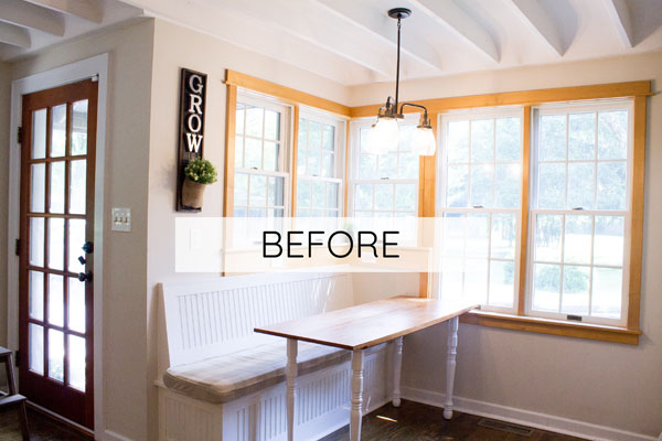 See how this breakfast nook got an update!