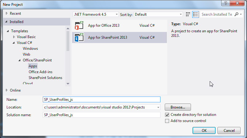 SharePoint: SharePoint 2013 Work with user profile