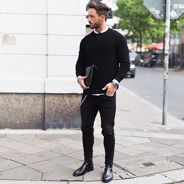 Look masculino total black