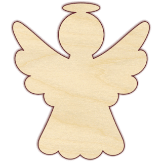 Angel with Open Arms: Free Printable Template.