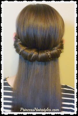 Cute hairstyle for school using headband.