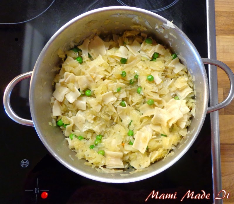 Krautfleckerl - cabbage with noodles