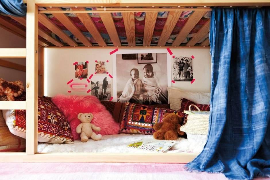 El dormitorio infantil bohemio y folk que querr as para ti for Retales papel pintado