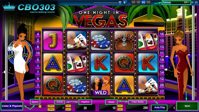 Agen Judi Online Sbobet--Panduan Dasar Bermain One Night In Vegas Sbobet