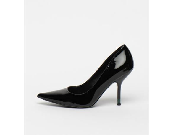 Pantofi eleganti cu toc inalt eleganti din piele lacuita Calvin Klein
