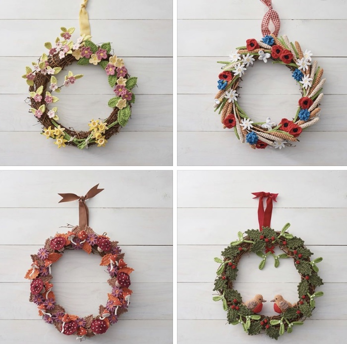 Seasonal Wreath Calendar, Simply Crochet Magazine,Issue 78
