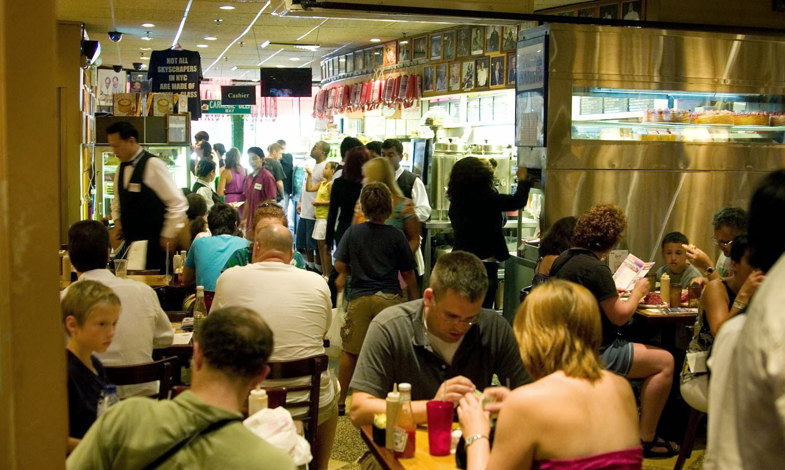 Over crowded eating place