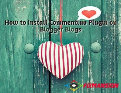 How to install commentluv plugin on blogger