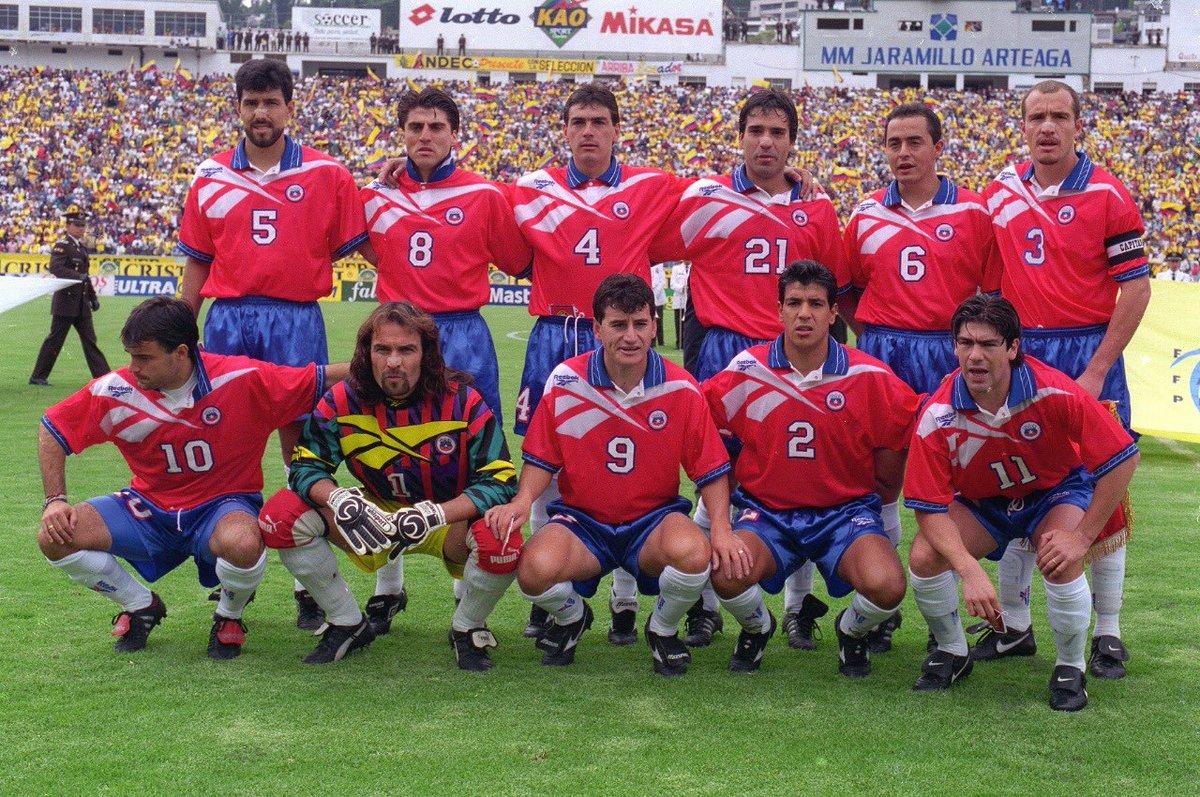 Formación de Chile ante Ecuador, Clasificatorias Francia 1998, 8 de junio de 1997