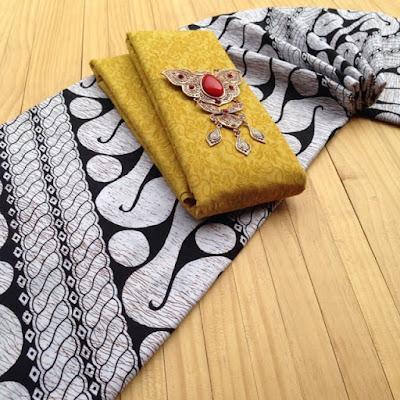 Kain Batik Pekalongan motif Parang Gede set Embos