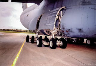 C-5 Galaxy does the splits