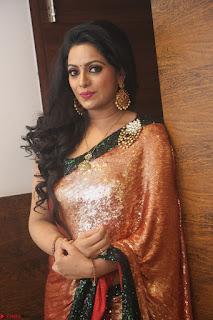 Udaya Bhanu lookssizzling in a Saree Choli at Gautam Nanda music launchi ~ Exclusive Celebrities Galleries 086.JPG