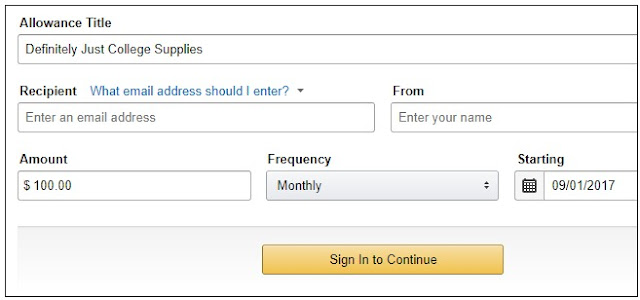 How to Automatically Give Your Family Members An Amazon Gift Card Allowance