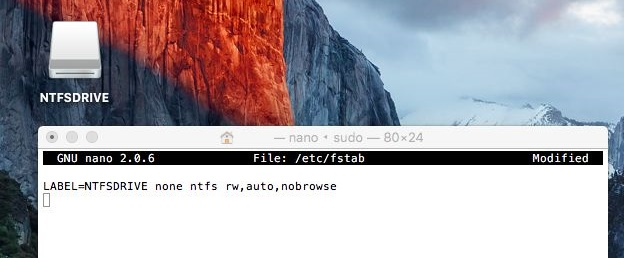 Make NTFS drive writable on Mac