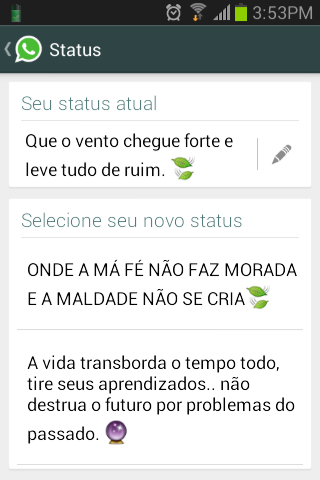 Frases Para Pôr No Status Do Whatsapp