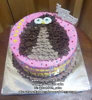 Kue Tart Burung Hantu Buttercream