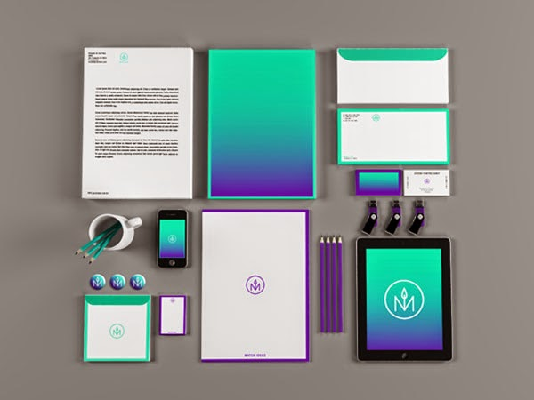 30 Colorful and Creative Stationery Designs for Corporate ...