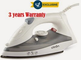 Citron Dry & Steam Iron with 03 Years Warranty – Flat 35% Off – starts from Rs.399(Limited Period Offer)