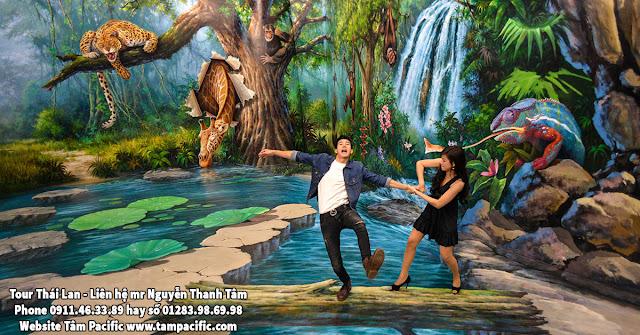 Tranh 3D tại vương quốc Thái Lan
